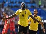 Lukaku marca 2 e Bélgica goleia Tunísia