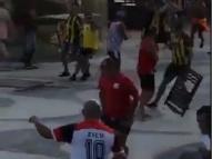 Torcedores de Peñarol e Flamengo brigam no Rio de Janeiro