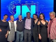 Fátima e Bonner festejam juntos os 50 anos do JN