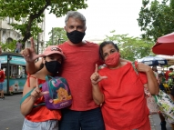 Apesar de falas contra Lula, petistas participam de ato