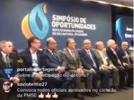 Morte interrompe evento com ministro em Sergipe