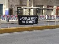 Ato cobra ações e simboliza mortes no trânsito do Recife