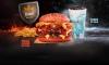 """Burger King: A rede norte-americana de fast food lançou este mês o """"Combo dos Reinos"""", que vem com """"Mega Stacker de Fogo"""" (sanduíche com pão vermelho) e """"Shake de Gelo"""" (milk shake de baunilha com calda azul)."""