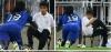 Atacante francês comemora gol e assusta gandula