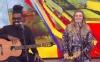 Carolina Dieckmann canta no 'Encontro' e é criticada